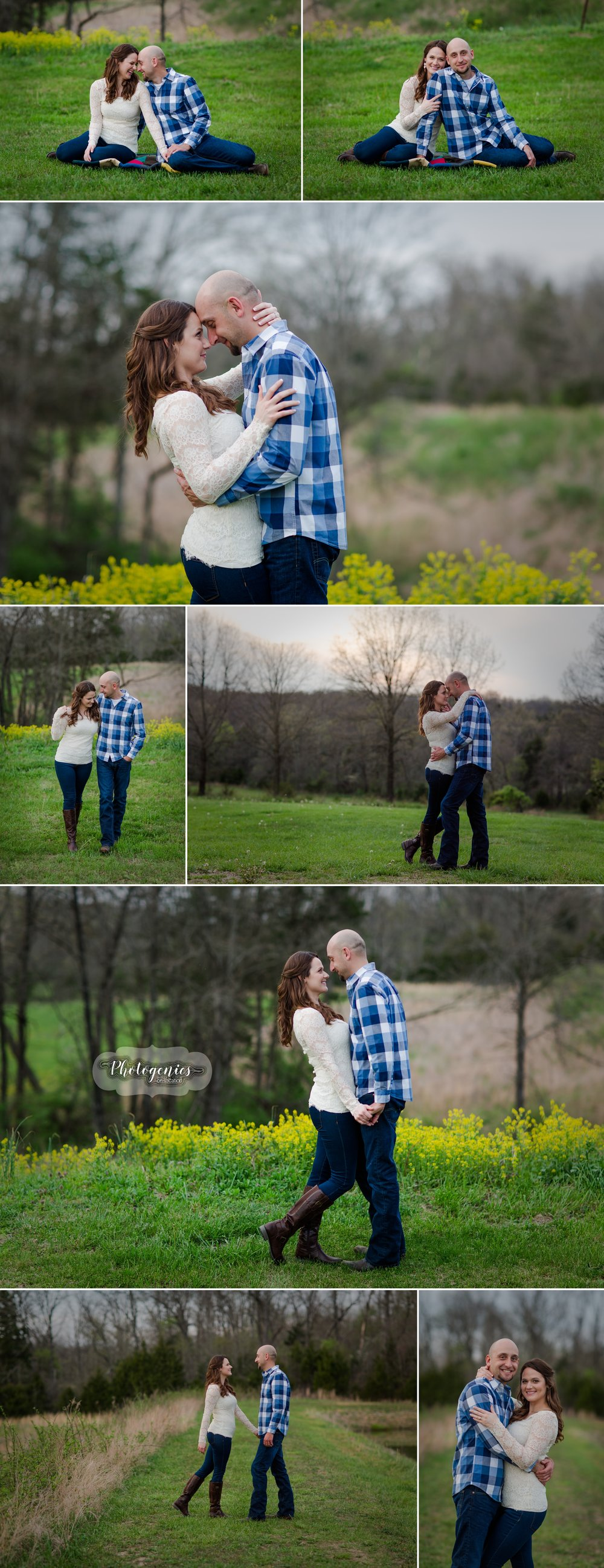 engagement_session_spring_country_creek_water_poses_evening_light_lake_sunset_ideas_simple_variety_unique 1