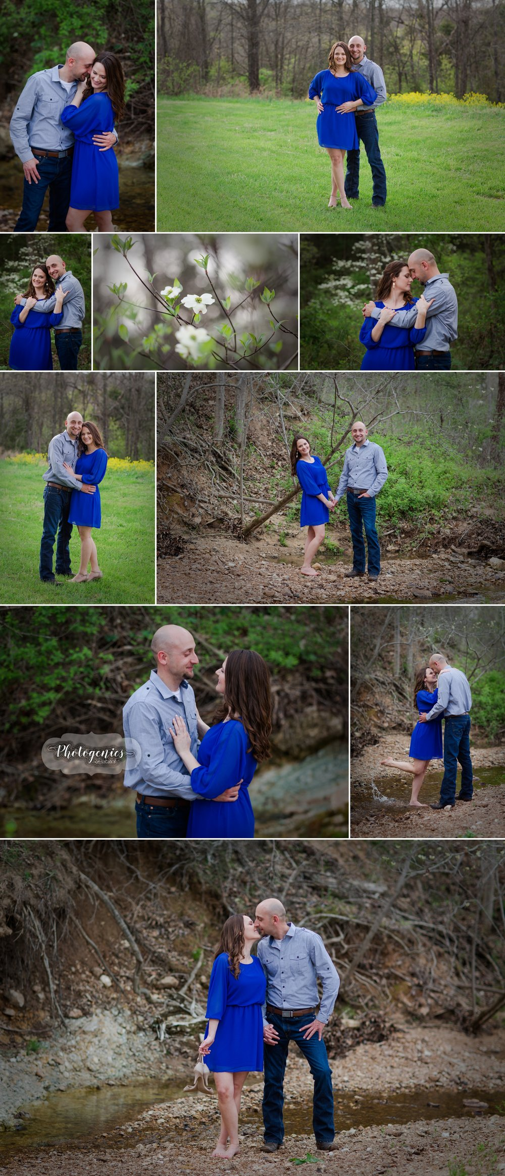 engagement_session_spring_country_creek_water_poses_evening_light_lake_sunset_ideas_simple_variety_unique
