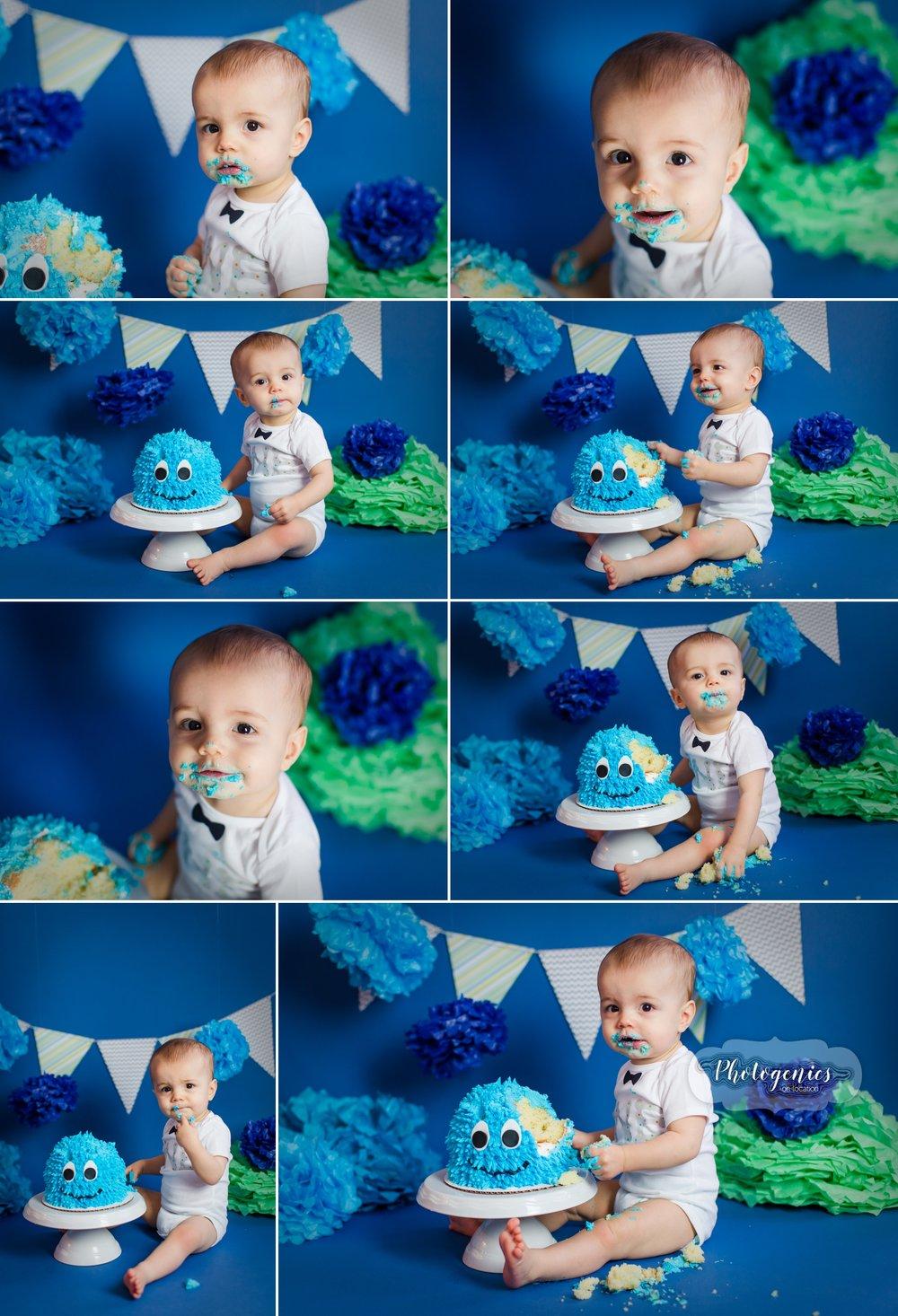 monster_cake_smash_boy_ideas_photography_poses_set_design_12_month_birthday_theme_pics