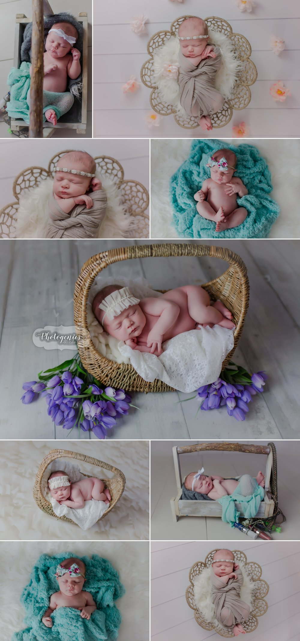 newborn_girl_hunting_daddy_photography_ideas_baby_photographer_flowers_teal