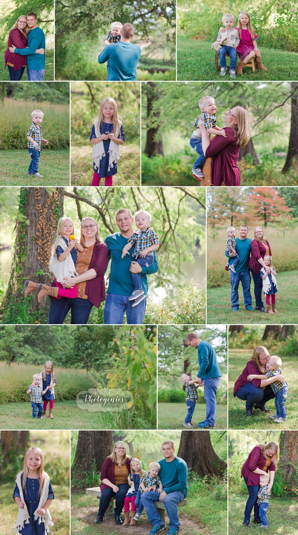 family_fall_photography_candid_family_of_four_missouri_photographer
