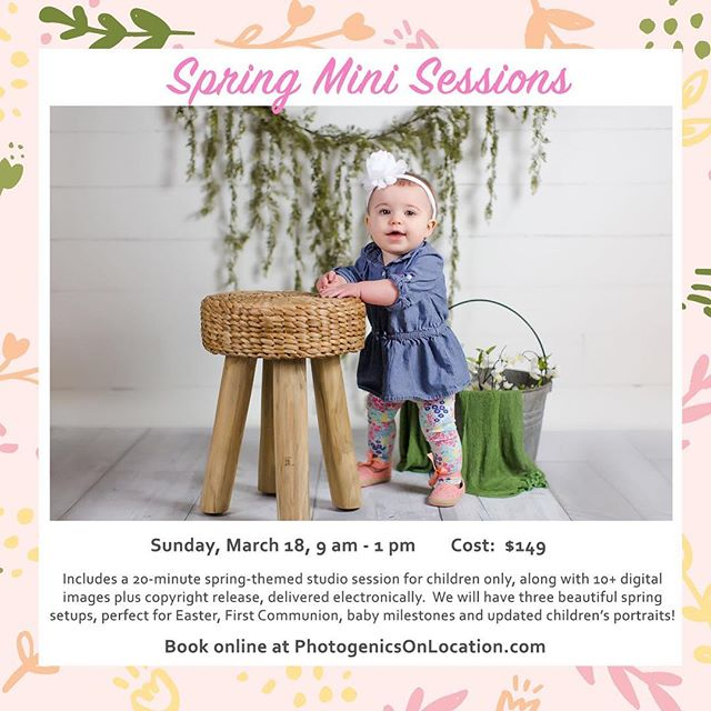 We're so excited to offer spring mini sessions this year, in the studio, because you know that Missouri weather is nuts! 🌷🌷