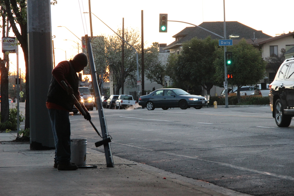 Graffiti removal crews start the day at 5:30 a.m. and at their first location by 6:00 a.m. Between July 1, 2014 and June 30, 2015, more than 30.6 million square feet of graffiti was removed from 607,273 locations.