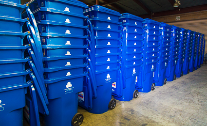 The City of Los Angeles currently operates the largest residential curbside recycling program in the United States, collecting a variety of recyclables from over 750,000 households every week.