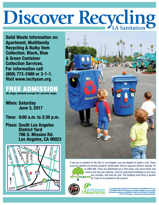 Good LA Sanitation Is Hosting A Series Of Open Houses At Your Local District  Refuse Yard On Specific Saturdays From 9:00 A.m. To 2:30 P.m. Come Join The  Dynamic ...