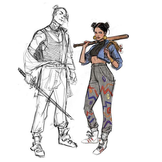 Sunday funday ✨  #sketch #drawing #digitalart #characterdesign #instaart #instaartist #artistsoninstagram
