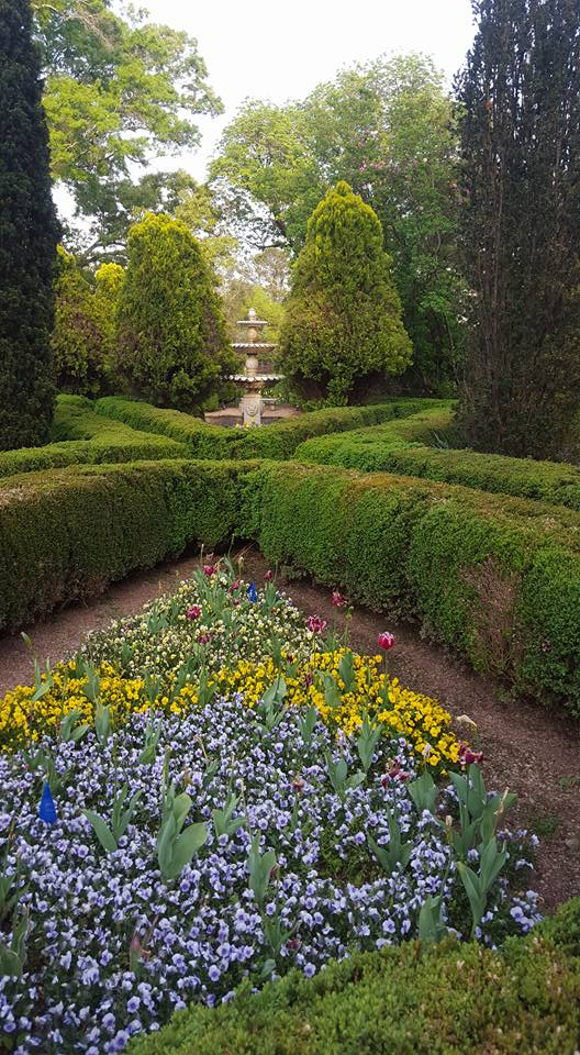 Gardens in front of the Manor ruins