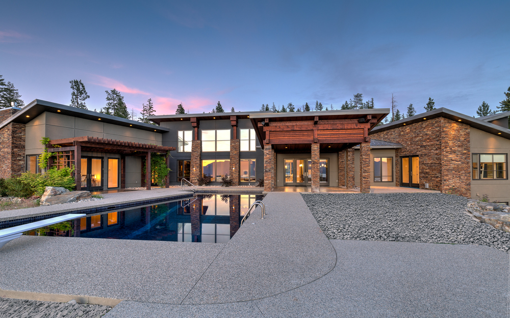 Back view of house with pool