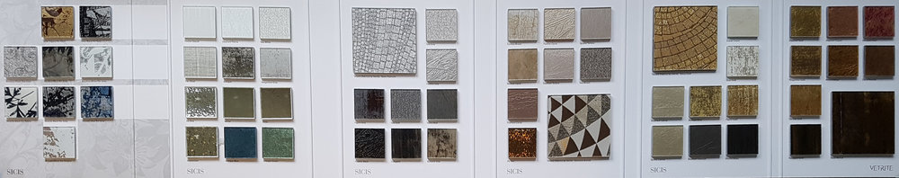 Sicis, Vetrite Glass Tile & Slabs distributed by C&S.