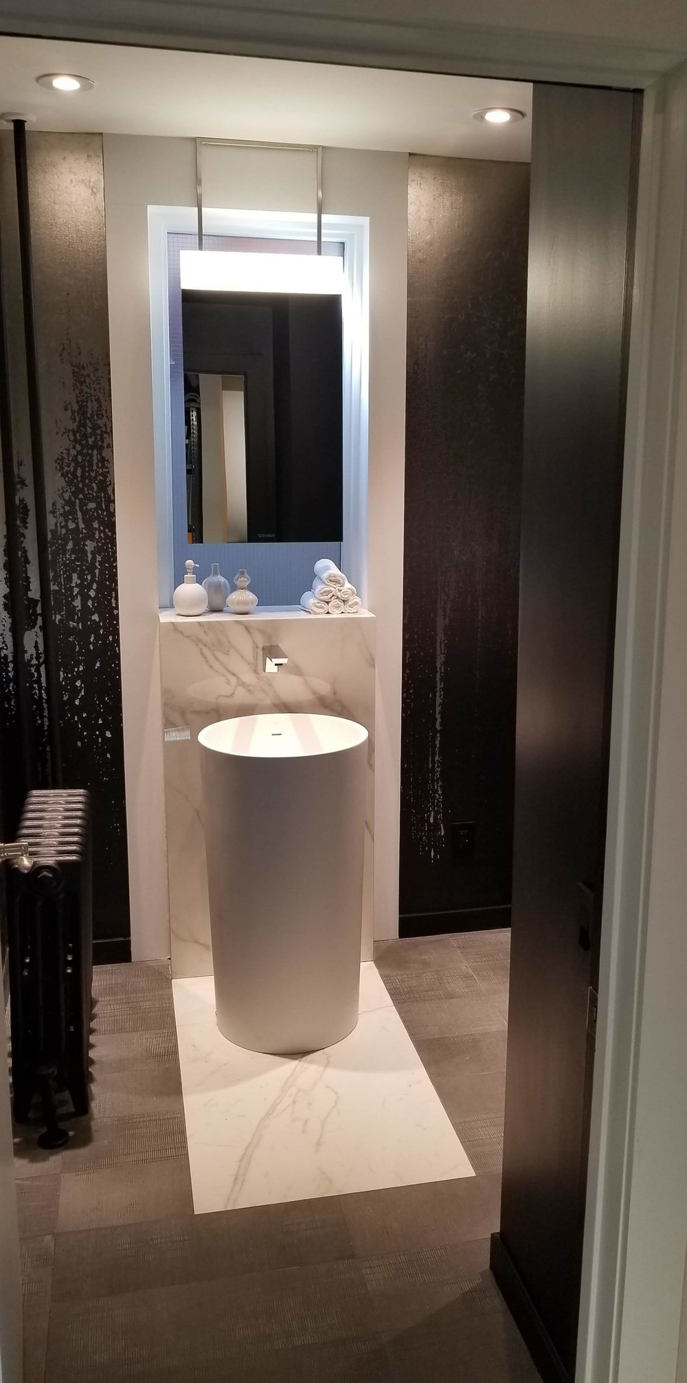 Powder Room Refresh - Everitt Design, Winnipeg, Canada - Project Complete!