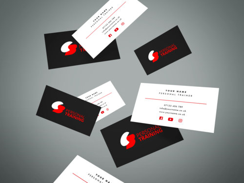 Personal trainer brand package king orange design business cards 500 double sided branded cards so you never miss a client colourmoves