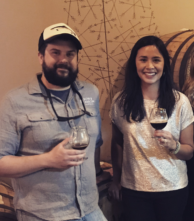 Head Brewer Ted O'Hanlan and CEO/Owner Shyla Sheppard