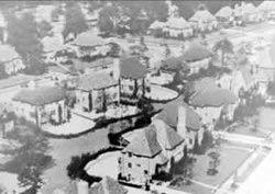 Aerial view of the Thomas development