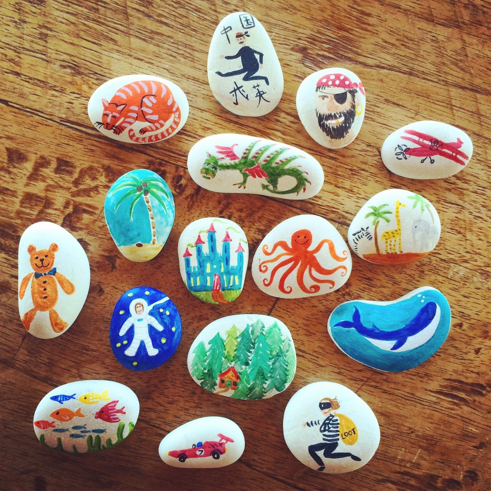 Story-telling stones