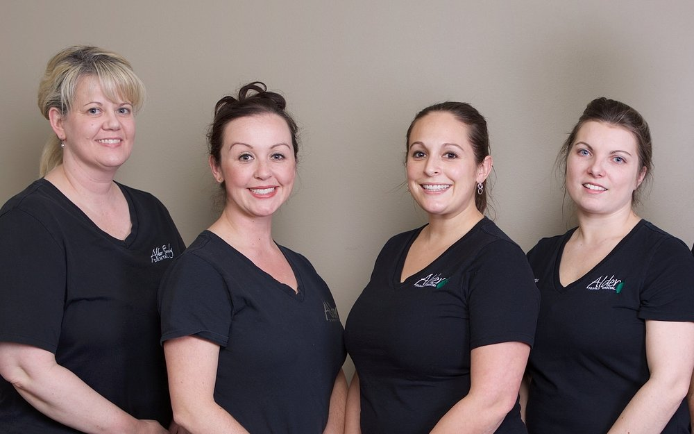 Dental Assistants - Sondra, Lindsie, Yvette, and Courtney take pride in keeping our patient's as comfortable as possible during their dental procedures. They are sensitive to and aware of their patients' needs.