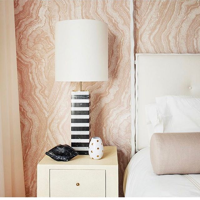 Girls Room designed by @michellegersoninteriors  Photo by @patrickcline_  #michellegersoninteriors  #mgid #interiors #interiordesign #interiorstyle  #homedecoration  #homedesign  #homedecor  #design #decor #girlsroom #canopy #lamps #bedsidetable