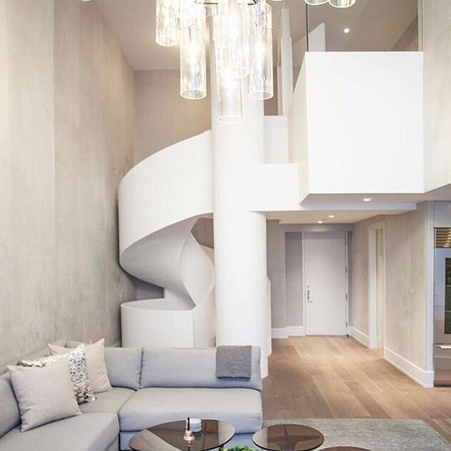 One of our all time favorite projects-  design by @michellegersoninteriors  photo by @patrickcline_  #michellegersoninteriors #mgid #interiors  #interiordesign  #interiorstyle  #style  #renovation #architecturaldetails. #ribbonstairs #stairporn #design #decor #homedecor  #homedesign
