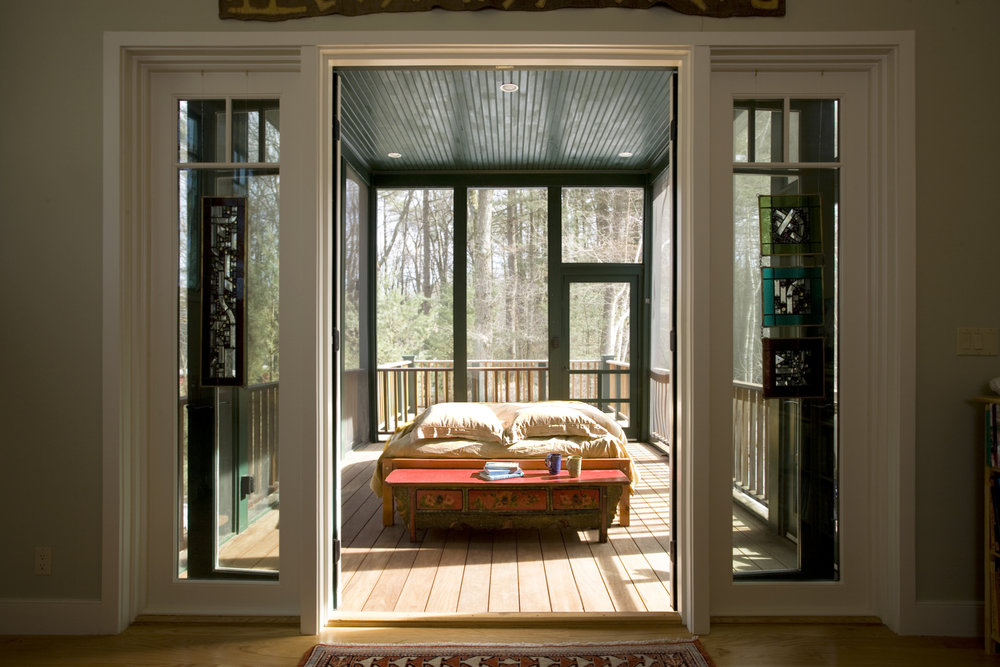 Screened in sleeping porch