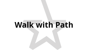 Walk with Path (temporary logo)