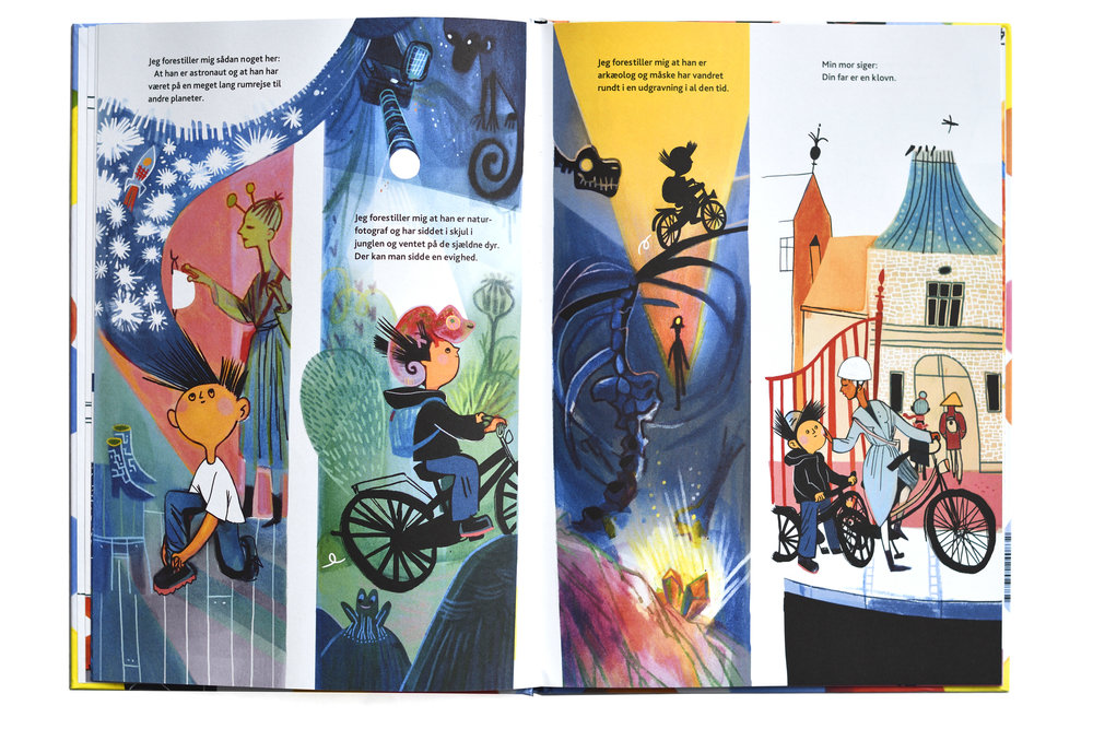 Spread from the book