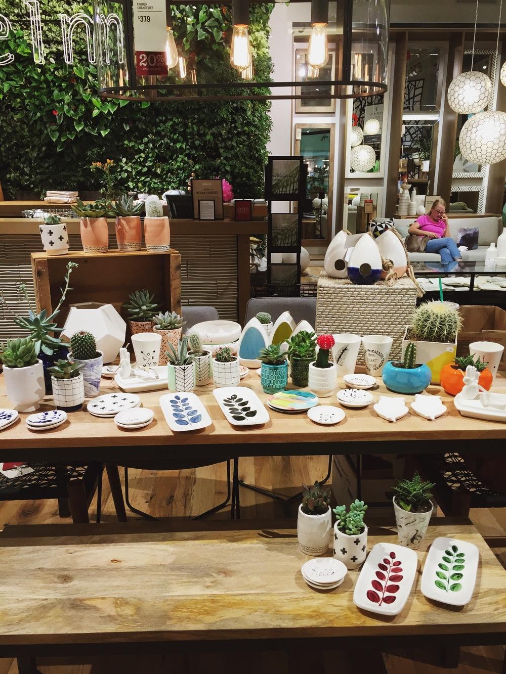 West Elm Pop Up Andrea Luna Reece Art Ceramics - West elm pop up table
