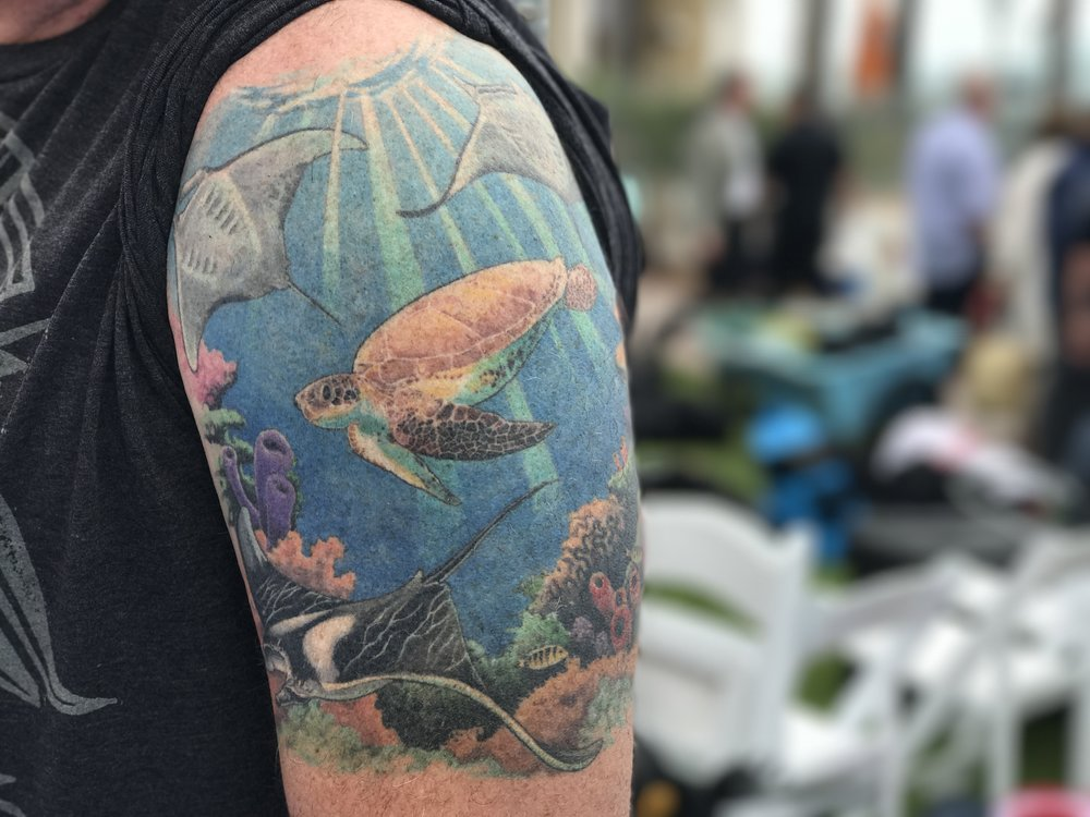 Diver and Volunteer Miles' Tattoo
