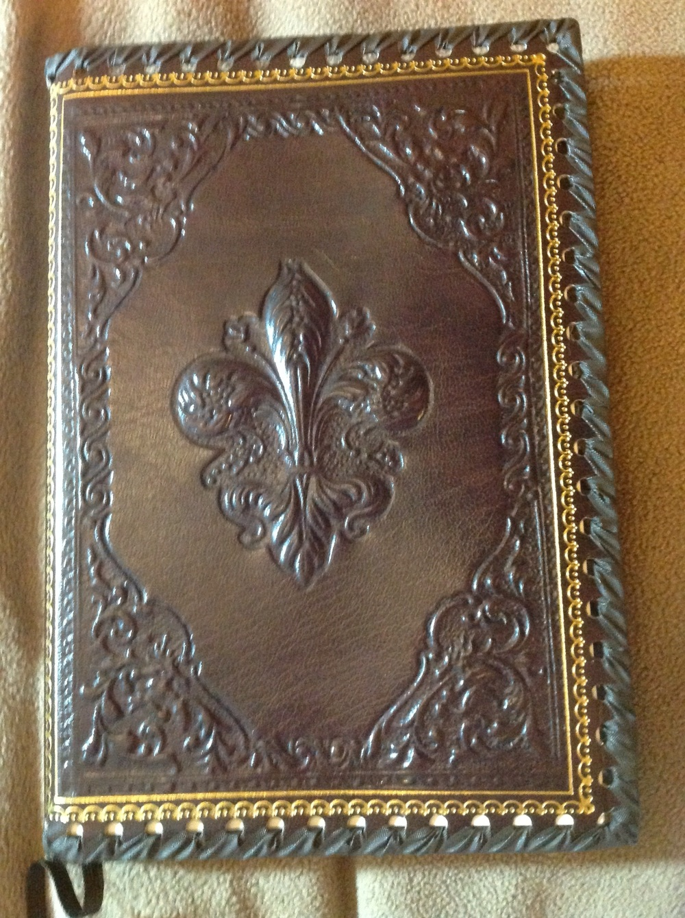 Leather journal cover with refillable pages...