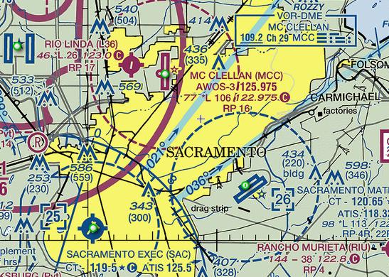 Sacramento airspace