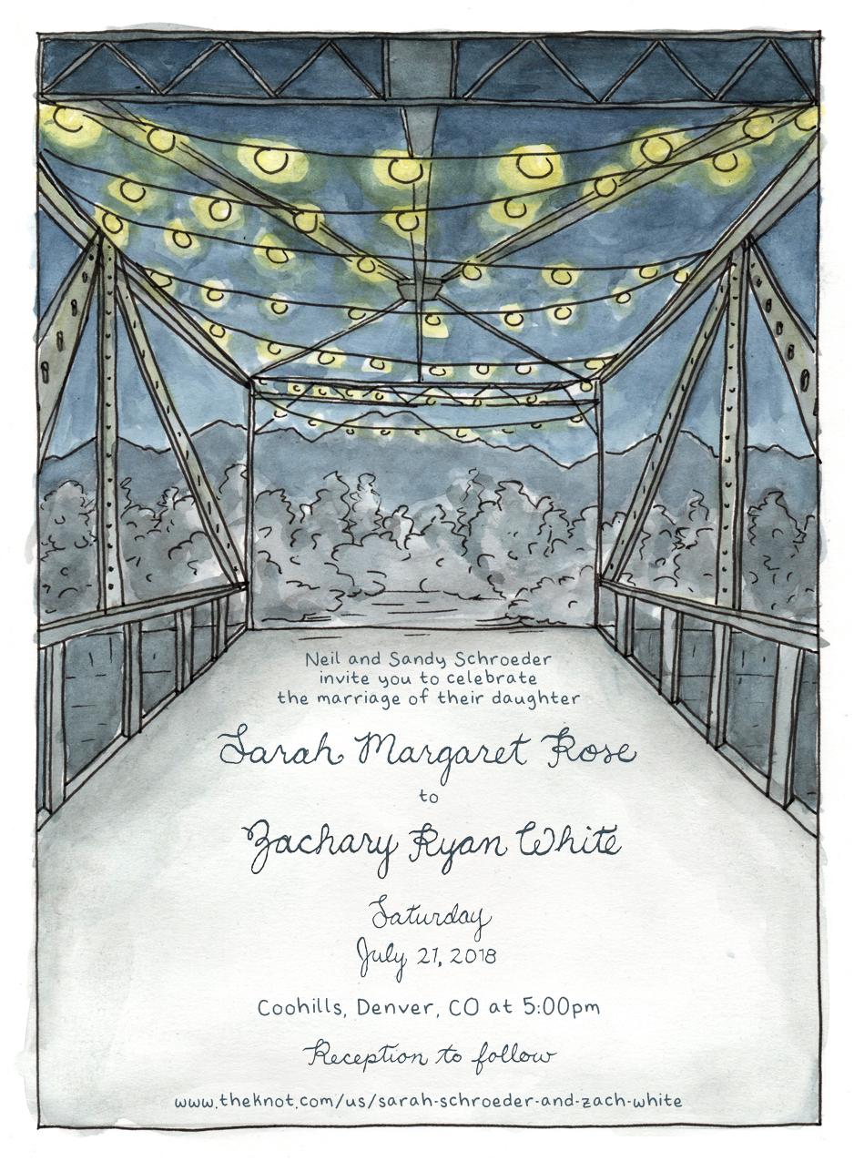 custom wedding invite, 2018
