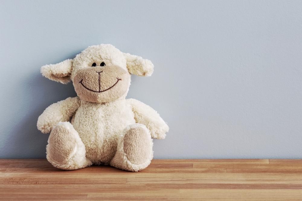 glückliches Anti-Depression-Schaf