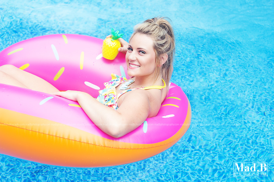 How picture perfect does Bre look in our donut float!?!