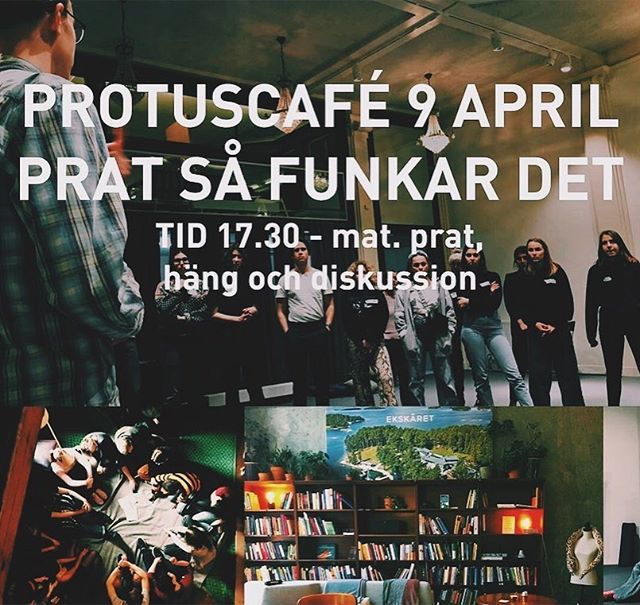Välkommna till ännu ett härligt protuscafé den 9 april kl 17:30! Efter våra senaste bravader med att prova lite nya koncept, kommer vi nu ha ett mer klassiskt protuscafé (men som ändå har moderna inslag). Kom om du gillar mat, prat, häng och diskussion, för då är det här cafét perfekt för dig!