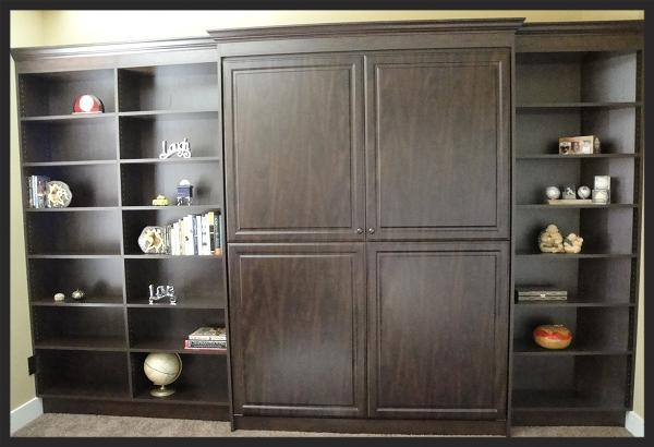Dark Wood Murphy Wall Bed