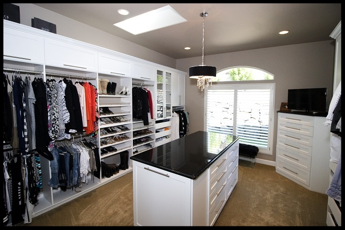 White Closet with Island