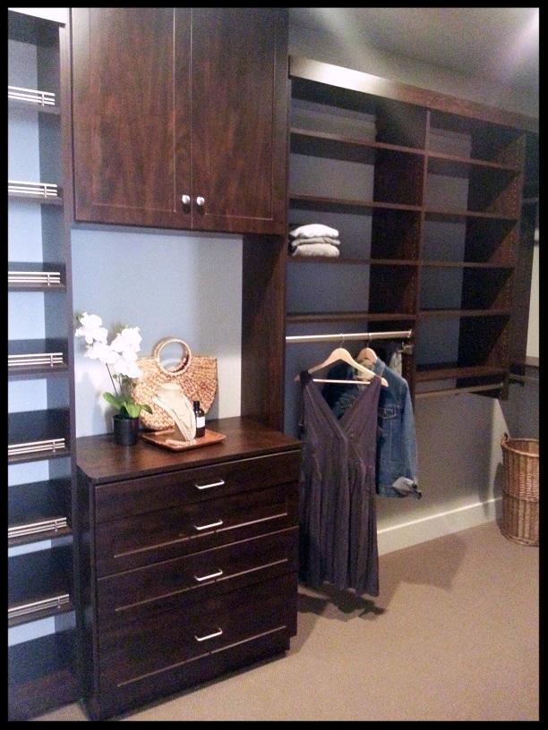Dark Wood Closet