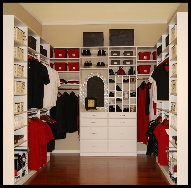 Red and White Closet