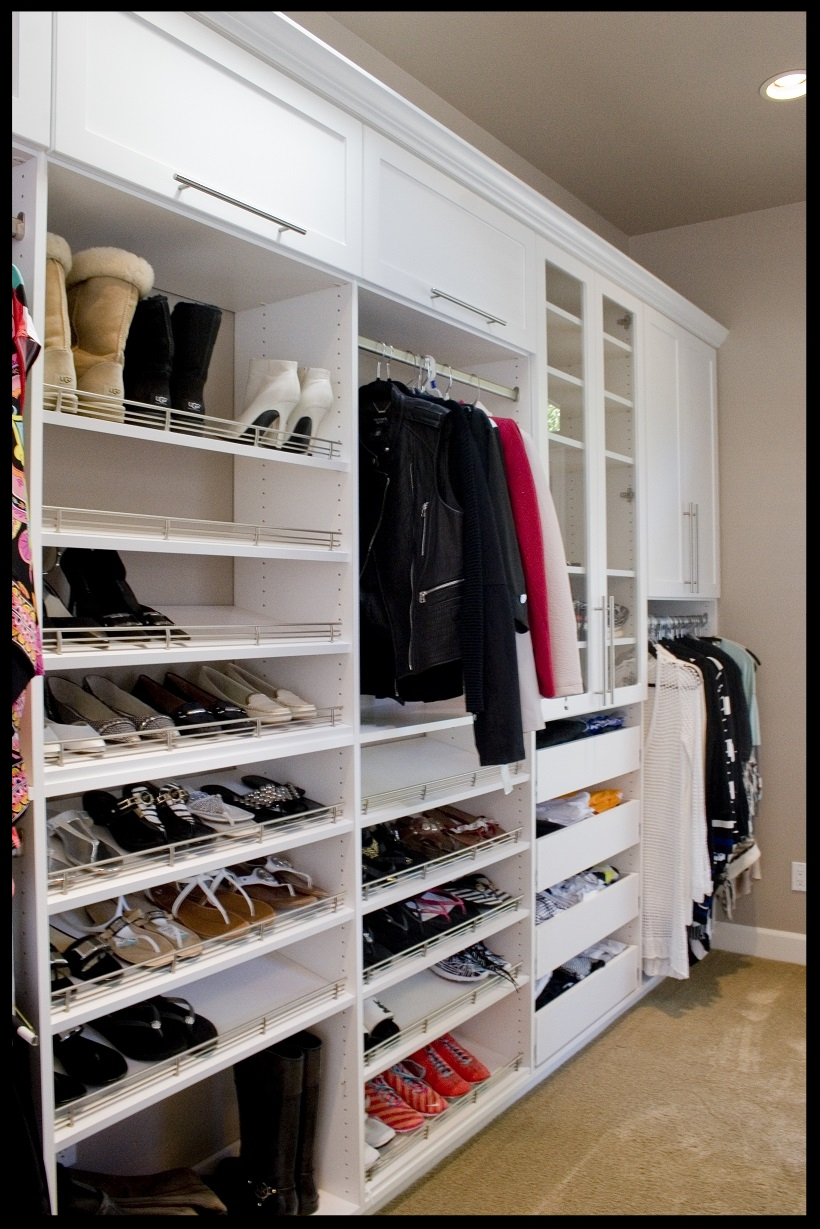 Floor Mount White Closet