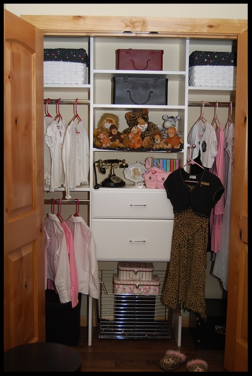 Girl's Reach-In Closet