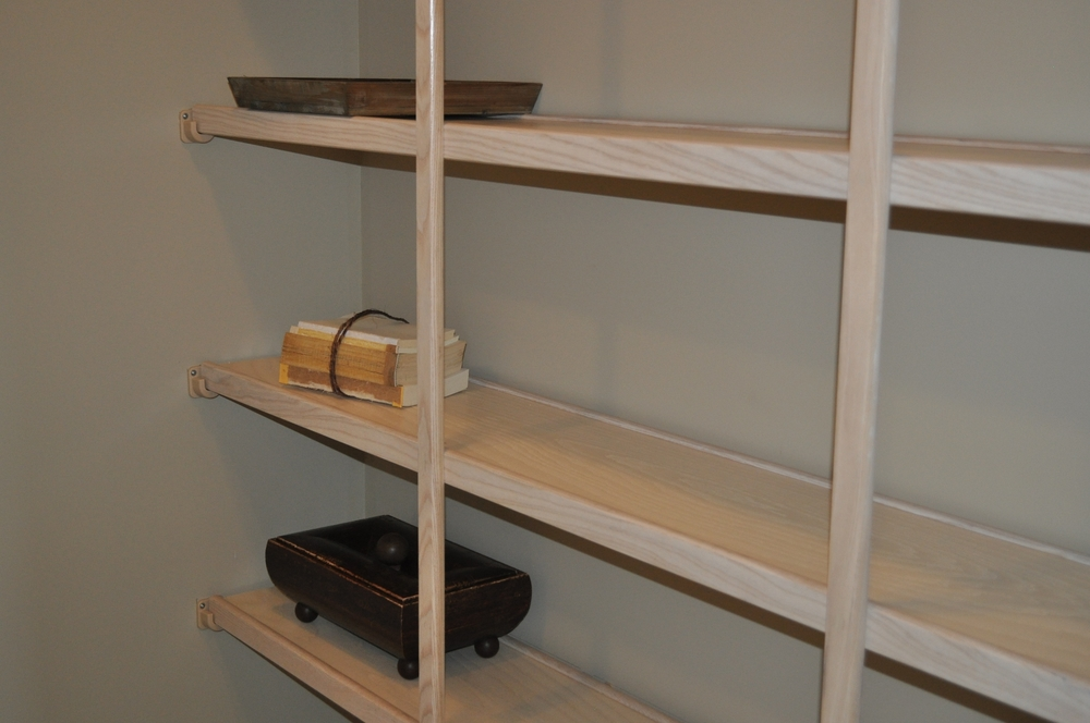 Solid shelving in pantry