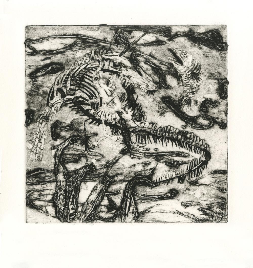 Mosasaur in B&W
