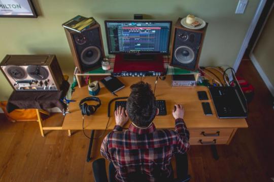 Michael Podlovics of CO/ZY Recordings in the studio
