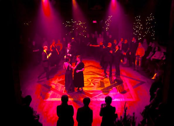 The ballroom scene marks the beginning of each loop.