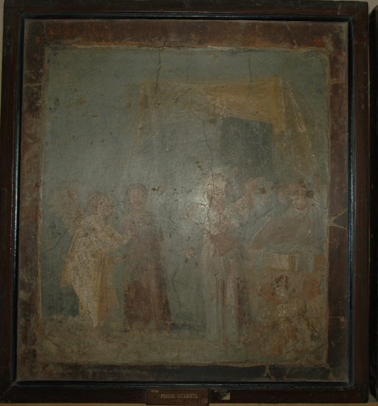 Figure 7: Small panel from Room 16. Museo Archeologico Nazionale di Napoli, 9206. Accessed via the Expeditio Pompeiana Universitatis Helsingiensis.