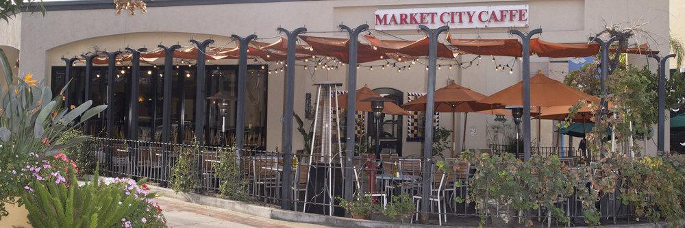 The patio at Market City Caffe