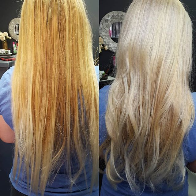 Ice queen  Bb to the rescue!! Before and after 😍