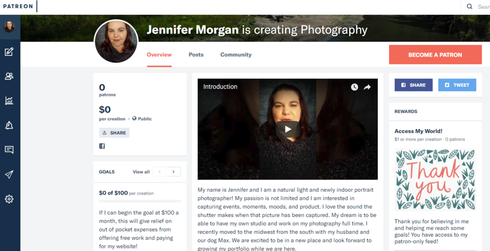 Jennifer Morgan Photography Patreon Page!