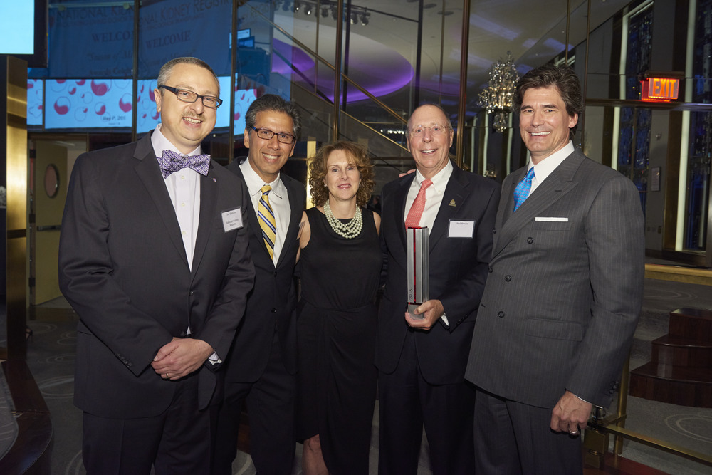 The participants: Joe Sinacore,  Dr. David Serur from NYPH,   Marian Charlton, Donor Advocate at NY Presbyterian Hospital, Ned Brooks, Founder of Donor To Donor and Garet Hil, Founder of the National Kidney Registry.    Eric Wolfe Photography