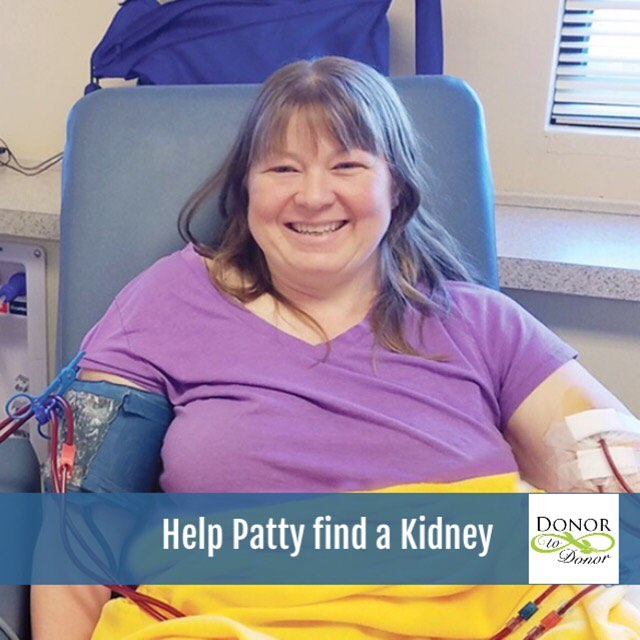Patty needs a Kidney! Finding a matching #livingdonor is our goal to help get her life back to normal. Read more about her at www.DonorToDonor.com/partys-story  #organdonor #kidneyfailure #kidneydisease #kidneydonor #organdonation #organtransplant #connecticut #newyork #newengland #helpingothers #dialysis #donortodonor #nondirecteddonor #ndd #nationalkidneyfoundation