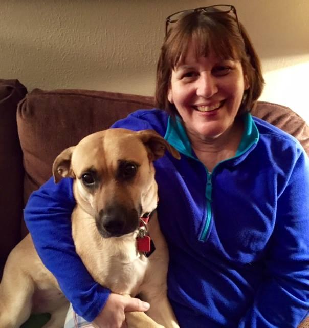 Lynn Nelson with her puppy.jpg