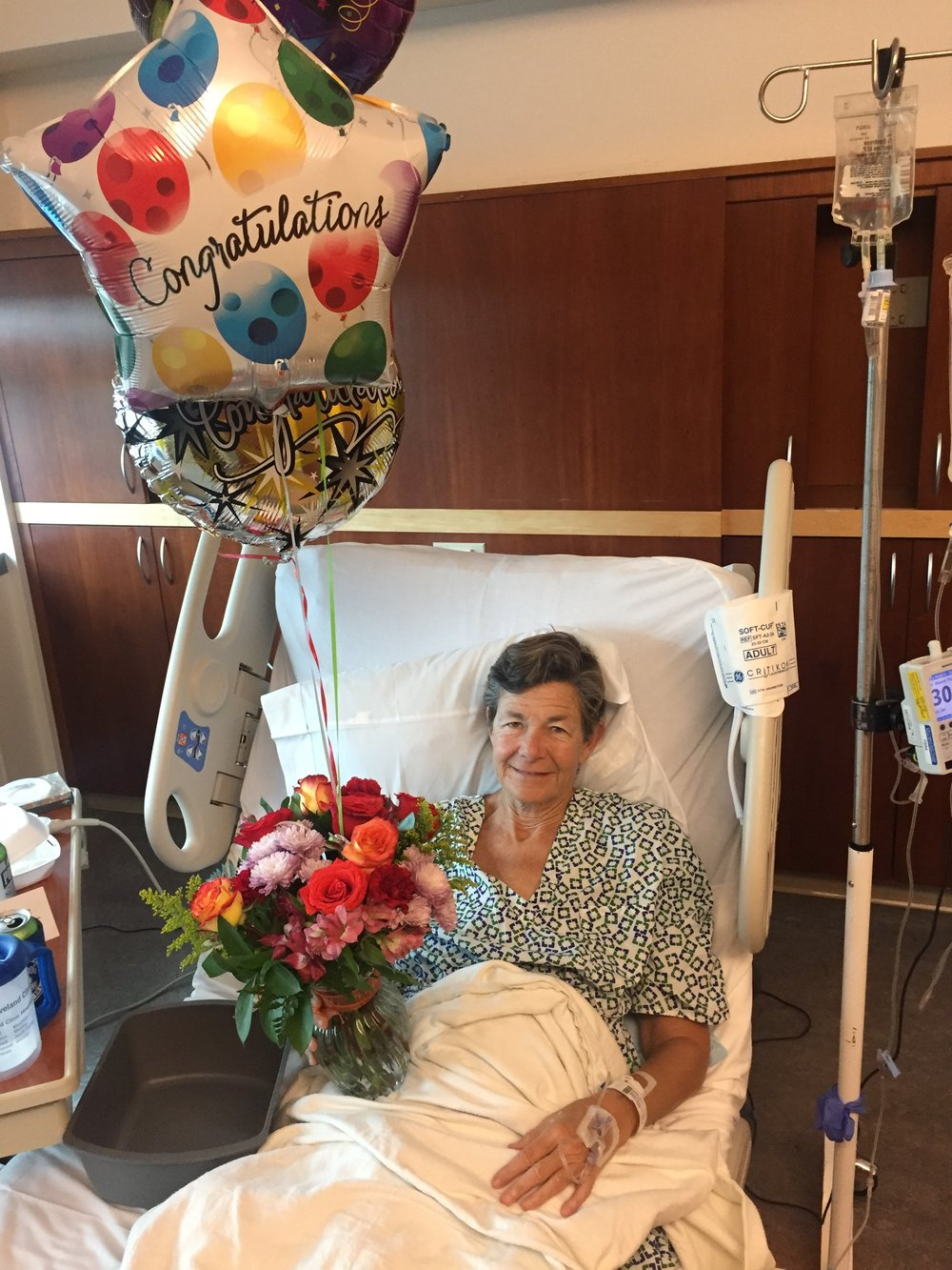 Betsy in Hospital after Non-Directed-Donor, Kidney Donation